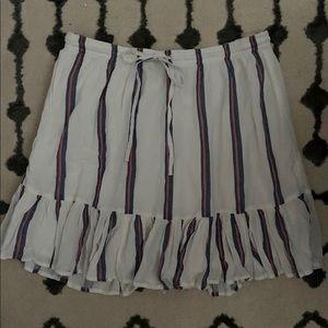 Gap Striped Ruffle Skirt